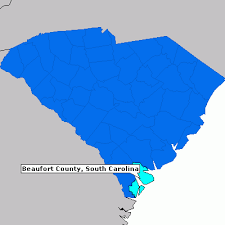 map of beaufort county sc beaufort county south carolina county information epodunk