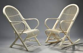 Comfort Chairs Two White Painted Iron