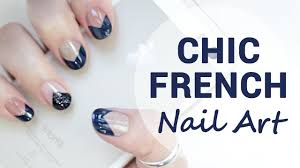 deep u0026 chic french nails for short nails wishtrend youtube