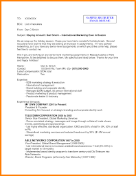 Make Own Resume 5 How To Write Emails To Recruiters Packaging Clerks