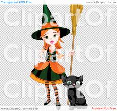 royalty free rf clipart illustration of a sassy little halloween