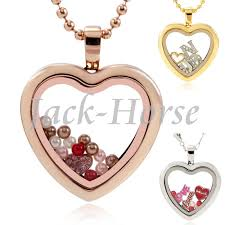 steel heart necklace images 30 stainless steel heart floating locket girl silver gold rose jpg
