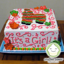stuffed cakes piñata baby shower cake