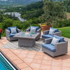 Courtyard Creations Patio Furniture Replacement Cushions by Fire Pits U0026 Chat Sets Costco