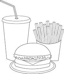 unhealthy food coloring pages
