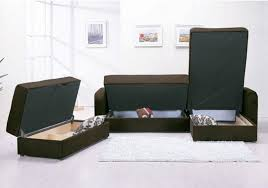 Leather Sofa Beds With Storage Sofa Sleeper With Storage With Popular Of Leather Sofa Bed
