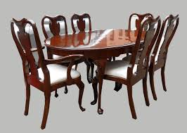 modern beautiful cherrywood queen anne dining room set 6 ch