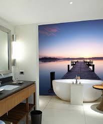 bathroom wall mural ideas 50 small bathroom decoration ideas photo wallpaper as wall decor