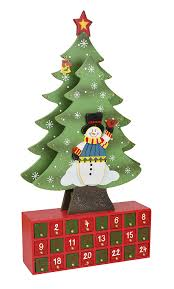 amazon com christmas tree advent calendar crafted all wood