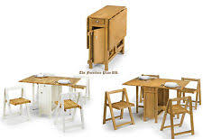 collapsing dining table folding dining table and chairs ebay