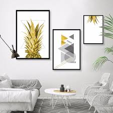 Nordic Home Compare Prices On Pineapple Painting Online Shopping Buy Low