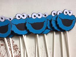 cookie monster table decorations 12 cute cookie monster cupcake toppers first birthday party