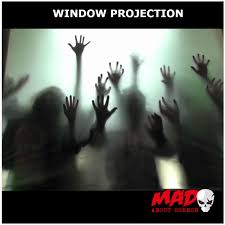 christmas window projection dvd digital halloween decoration projection kit atmosfear zombie