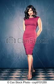 elegant mature woman elegant woman elegant mature woman in red tight dress full