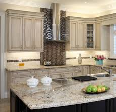 gray kitchen themes using painted kitchen cabinets also black