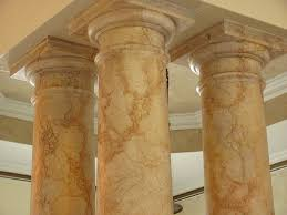Faux Finishing Another Faux Marble On Columns Columns Marbles And Faux Paint
