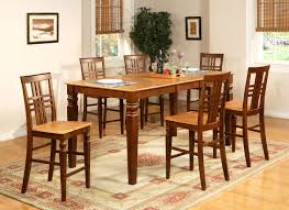 pc counter height dining room table set and bar stools of with