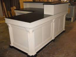 Esquire Glass Top Reception Desk L Shaped Reception Desk Wood U2014 All Home Ideas And Decor L Shaped