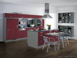 kitchen idea of the day european kitchen cabinets in dark red