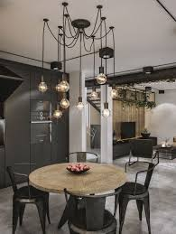 industrial kitchen light fixtures modern loft in kaunas industrial style wrapped in unpretentious