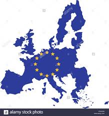 map europe vector european union map icon europe eu country national and politics