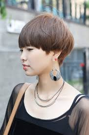 Mushroom Hairstyle Female Boyish Short Hairstyle Stylish Helmet Haircut For Women