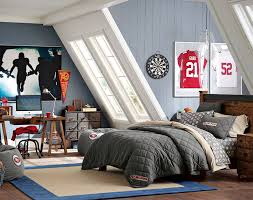Teenage Guys Bedroom Ideas Football Inspired PBteen Cole - Teenage guy bedroom design ideas