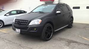 mercedes benz jeep matte black ml350 2010 black matte plasti dip youtube