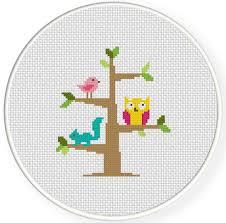 tree dwellers cross stitch pattern daily cross stitch