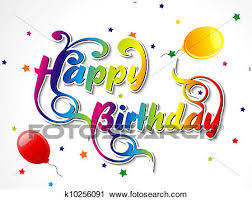 clipart of abstract happy birthday card k10256091 search clip