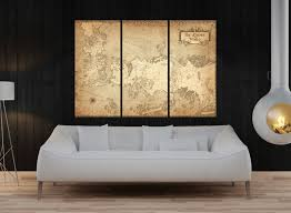 the game of the thrones map wall art canvas print large wall