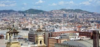 barcelona city view barcelona city view stock photos freeimages com