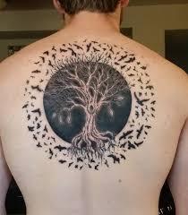 25 tree of tattoos on back