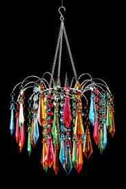 Colored Chandelier Faceted Waterfall Chandelier Multi Colored