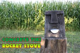 concrete tiki rocket stove 7 steps with pictures