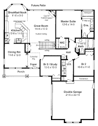 3 Bedroom Open Floor House Plans 107 Best House Plans Images On Pinterest House Floor Plans