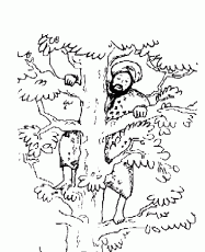 zacchaeus meets coloring pages high quality coloring pages