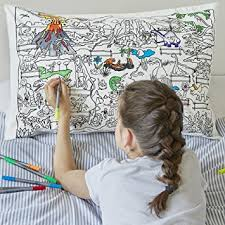 design your own pillowcase doodle dinosaur pillowcase color your own pillow