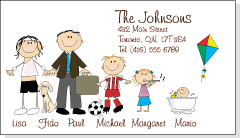 witty doodles family return address labels personalized gift