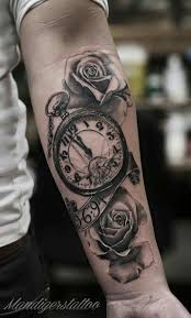 Tattoos For Arms And - the 25 best clock tattoos ideas on