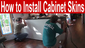 how to install kitchen cabinet skins youtube