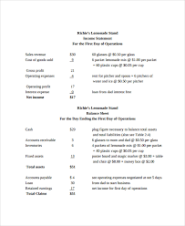 sample income statement 20 documents in pdf word excel