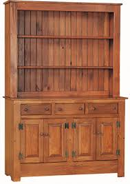 primitive dining room amish pine wood farmhouse hutch old