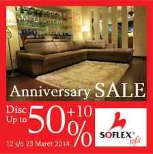 Jakarta Design Center Soflex Sofa  Anniversary Sale - Sofa design center