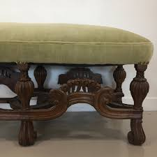 norris vintage clawfoot bench u2014 sitzen design u0026 upholstery
