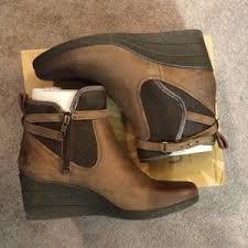 nib ugg australia emalie wedge waterproof ankle boot black zip 60 ugg shoes ugg booties emalie size 9 from s closet