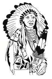 drawing native american native american coloring pages for