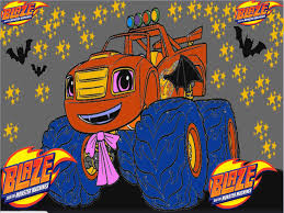blaze and the monster machines halloween color episode youtube