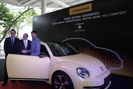 2013 volkswagen beetle design tsi lucky maybank customer wins volkswagen beetle 2 0 wemotor com