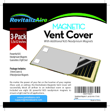 Floor Vent Covers by Revitalizaire Magnetic Vent Cover Includes Powerful Neodymium
